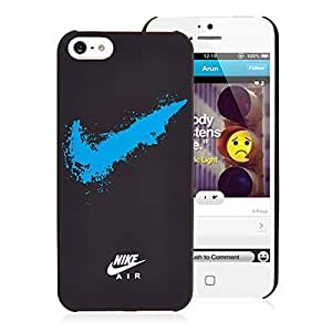 Nike Sports Logo Hard For Iphone 6 Plus 5.5 Phone Case Cover and 5s Just Do It! - Black and Blue Case (Fluorescent Swoosh)