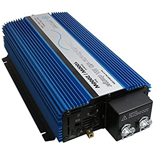 Buy AIMS Power 1000 Watt Pure Sine Inverter with Selectable 25/55 Amp Charger & Automatic Transfer Switch