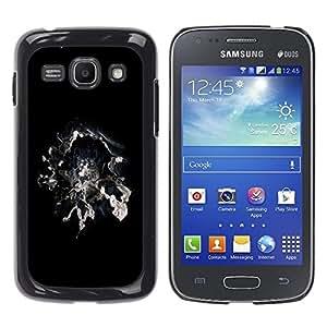 TopCaseStore / la caja del caucho duro de la cubierta de protección de la piel - Cool Abstract Smoke Galaxy Space Magic Black White - Samsung Galaxy Ace 3 GT-S7270 GT-S7275 GT-S7272