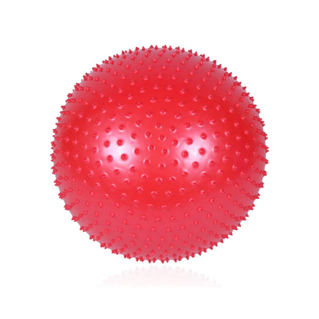 TMY Yoga Ball Fitness Massage Thickening Explosion-Proof Indoor Sports Balance Training Weight Loss Child Seat (Color : Red, Size : 55cm)