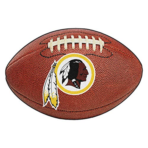 FANMATS NFL Washington Redskins Nylon Face Football Rug