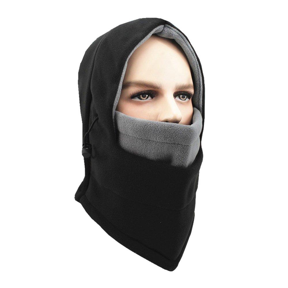 Opromo 6 in 1 Fleece Balaclava Windproof Ski Hooded Face Mask Winter Warm Hat