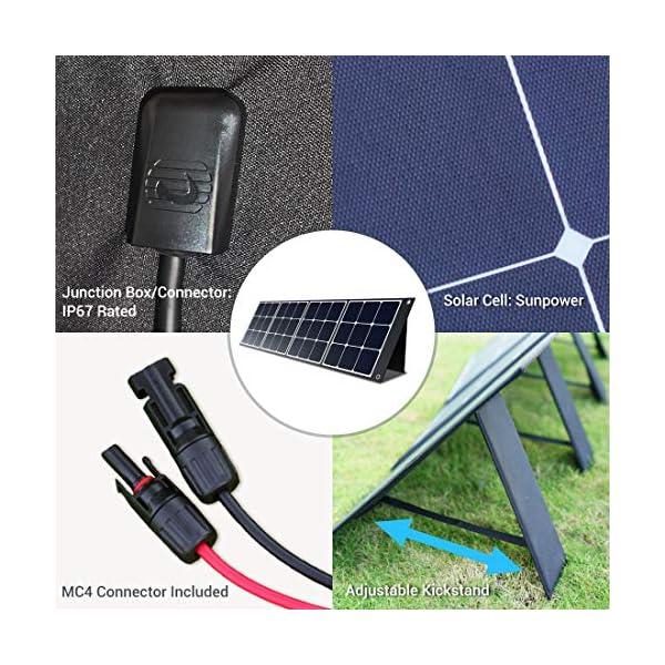 519I7tiH1vL PowerOak Faltbares Solarpanel SP120 - Solarmodul für PowerOak AC50S/EB150/EB240/AC200P Tragbare Powerstation 120W…