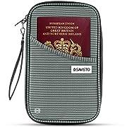 Savisto Multi-Purpose Travel Wallet Organiser | RFID Blocking Passport & Document Holder Inc. Slots & Compartments for…