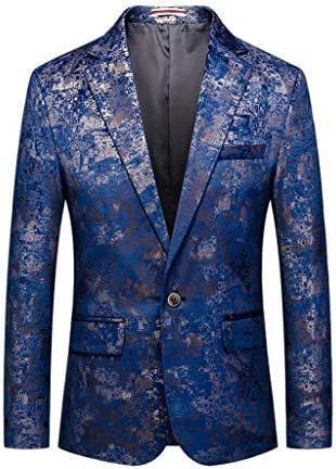 [해외]SFE Men`s Vintage Floral Print Embroidered Suit Blazer Long-Sleeved Single Breasted Notched Lapel Coats Party Blazer / SFE Men`s Vintage Floral Print Embroidered Suit Blazer Long-Sleeved Single Breasted Notched Lapel Coats Party Bl...