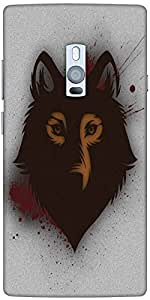 Snoogg Bold Wolf Designer Protective Back Case Cover For One Plus Two
