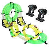 Beiyoyo RC Car with Track, Racing Track Car, Unassembled Speed Race Track RC Car Game Set with Remote Control Handle Double Race Car Gift for Kids Boy Girl Age 6+ (Double)