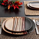 Better Homes and Gardens Bazaar Brown 16-Piece Dinnerware Set, Ceramic , Stone