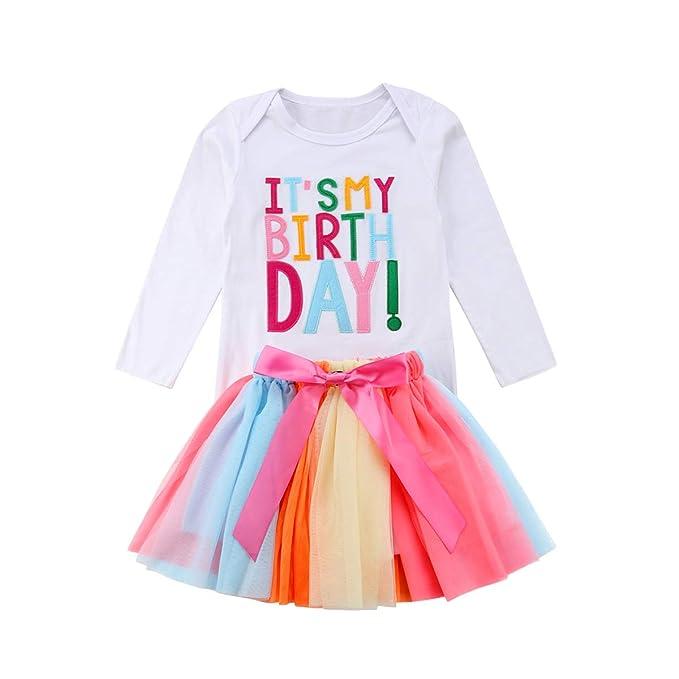 CIPOGL Pijama de bebé para niña, Primer cumpleaños, 3 ...