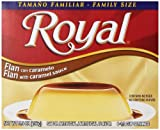 Royal Bilingual Flan Dessert Mix, Caramel Sauce, Family Size, Fat Free (12-5.5 oz Boxes)