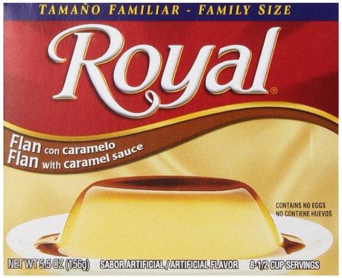 Royal Bilingual Flan Dessert Mix, Caramel Sauce, Family Size, Fat Free (12 - 5.5...