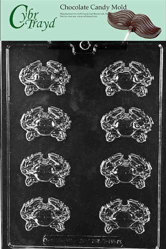 Cybrtrayd N062 Crab Pieces Chocolate Candy Mold with Exclusive Cybrtrayd Copyrighted Chocolate Molding Instructions
