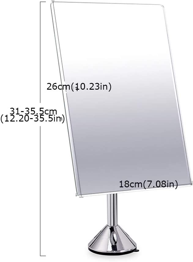 Mirror Pedestal Stand Table,Angle Adjustable Removable with Polished Safety Edges for Bathroom Shaving Room Dressing Table Makeup Mirror Size : A