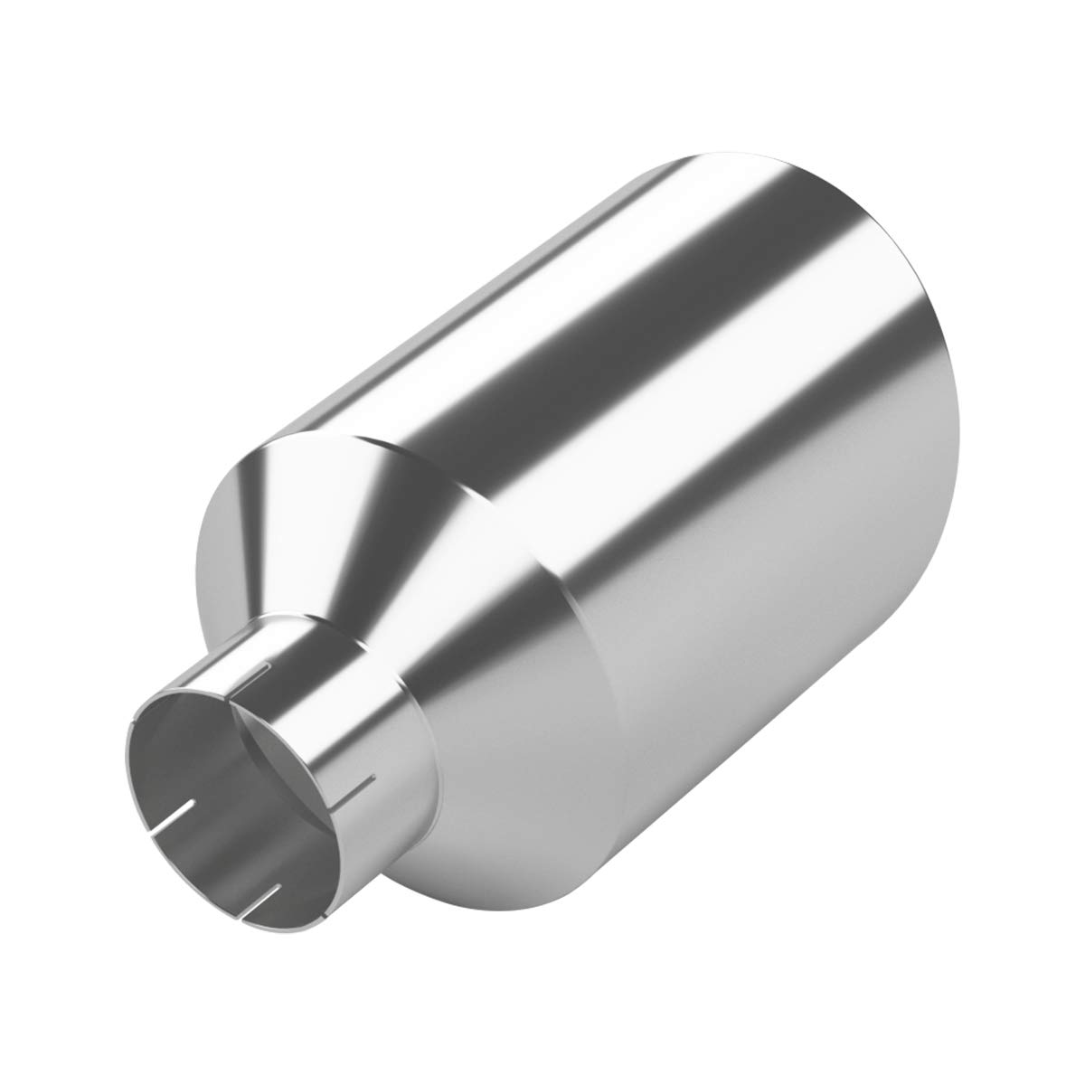 LCGP 4 Inlet 8 Outlet 15 Length Rolled End Angle Cut Black Tail Pipe Clamp-On Diesel Exhaust Tip