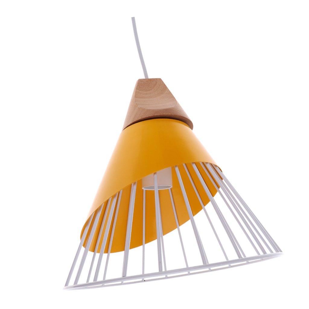 MagiDeal Abat-jour Suspension avec Ligne en Fer/Bois Décoration pour Maison Art Décor - Orange non-brand