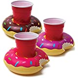 BigMouth Inc. Inflatable Pool Party Drink Floats - Donuts 3 Pack!