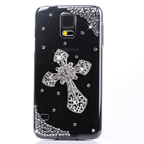 EVTECH(TM) Full Rhinestones Series Luxury Crystal Diamond Bling Design Hard Faceplate Protector Clear Transparent Hard Cover Case for Samsung Galaxy S5 I9600 Samsung Galaxy S5/ GS 5 AT&T G900A/ Sprint G900P/ Verizon G900V/ T-mobile G900T (100% - Diamond Protector Faceplate