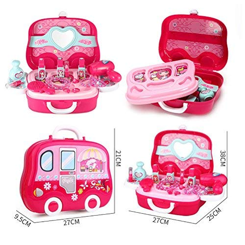 Role Play Jewelry Kit for Girls Toy Set Princess Suitcase Gift for Kids Children 3 Years Old by YIMORE (Image #5)