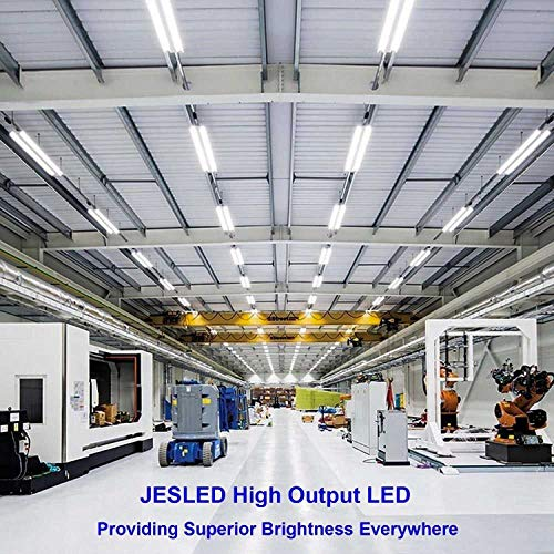 JESLED T8/T10/T12 8FT LED Tube Light, Single Pin FA8 Base, 50W 6000LM 5000K Daylight White, 270 Degree V Shaped LED Fluorescent Bulb (130W Replacement), Clear Cover, Dual-Ended Power (12-Pack) by JESLED (Image #8)