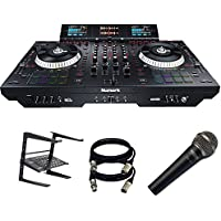 Numark NS7III - 4-Channel Motorized DJ Controller . W/ Laptop Stand + Mic + (2) XLR TO XLR Cables.