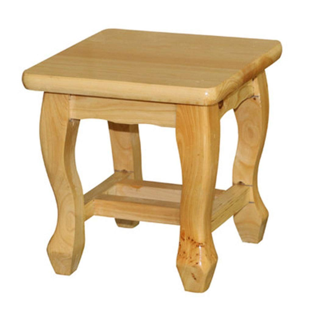 Small 22x22x23cm Zcxbhd Creative Home Study Solid Wood Student Change shoes Small Square Stool Load 150kg About (Size   Small 22x22x23cm)