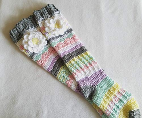 Crochet Knee High Socks for Girls and Women