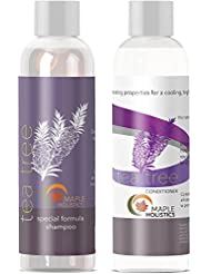 Tea Tree Oil Shampoo and Hair Conditioner Set - Natural...