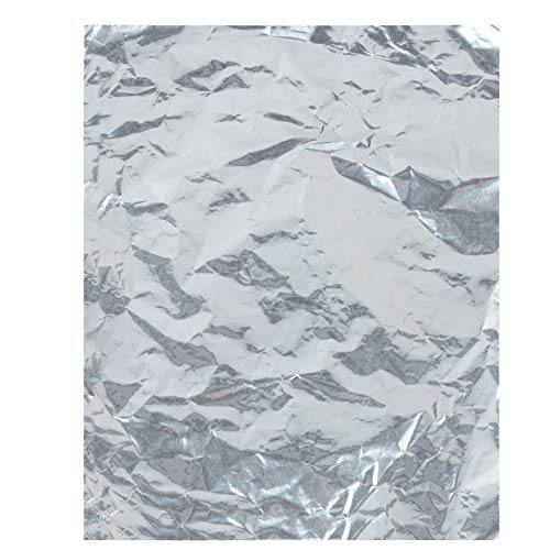 Foil Candy Wrappers - 100-Pack Silver Aluminum Foil Wrapping Paper, 6 x 7.5-Inch Candy Bar Wrappers for Chocolate, Caramel, Sweets, Candy Packaging, Wedding Christmas Party Favors, DIY]()