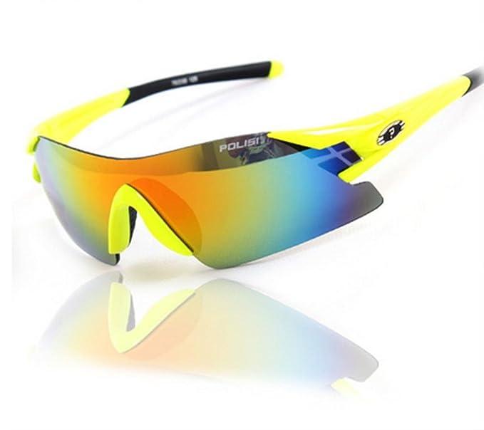 DZW Mode rahmenlose Brille Sportspiegel Reiten kann Kugeln Brille polarisierte Sonnenbrille Sonnenbrille Angeln ändern , white red