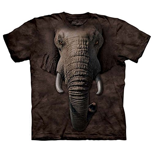 The Mountains Elephant Face Mens T-Shirt Medium