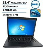 "Dell Latitude E6500 15.4"" Business Laptop Computer, Intel Core 2 Duo 2.0GHz CPU, 2GB DDR2 RAM, 120GB SSD, DVD, Esata, Display Port, Firewire, Windows 7 Professional (Certified Refurbished)"