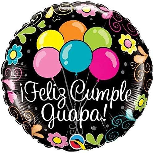 Qualatex Foil 049674 Feliz Cumple Guapa Balloons, 18