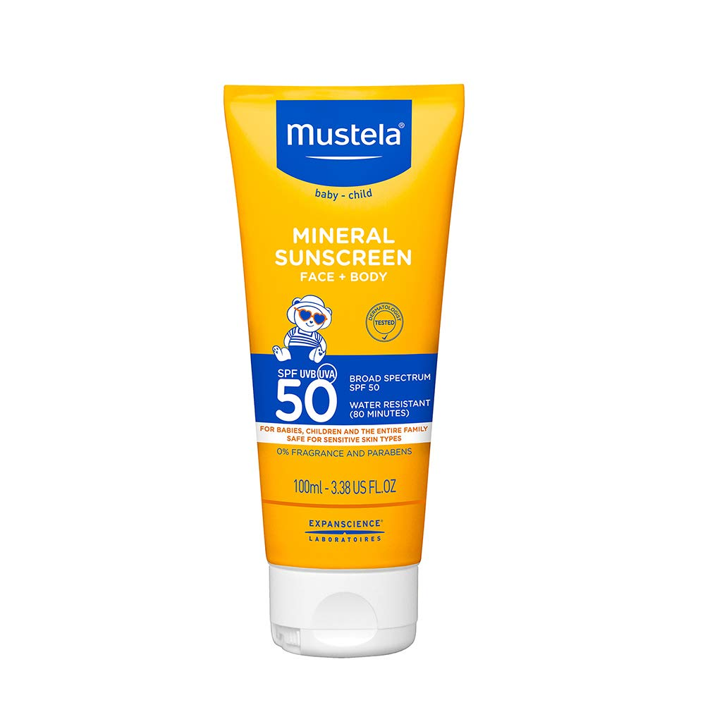Mustela SPF 50 Broad Spectrum Mineral Sunscreen Lotion
