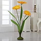 ZF-265 45'' Free Standing Paper Daisies(Yellow, 4pcs)