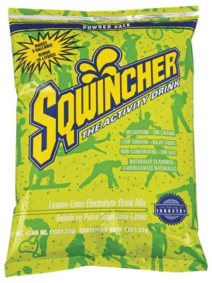 Sqwincher LEMON-LIME 47.66 Oz Powder Pack (16/case) by Sqwincher