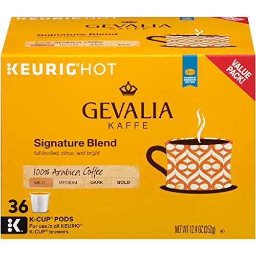 Gevalia Signature Blend Coffee, Mild Roast, K-Cup Pods, 36 Count ()