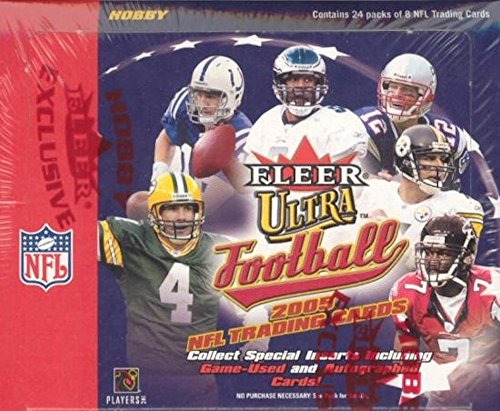 2005 Fleer Ultra Football Hobby Box - NFL Football Cards by Baseball Card Outlet