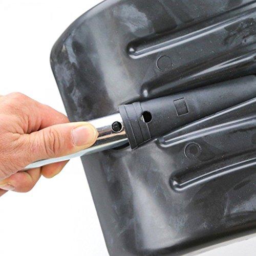 robust Bid Buy Direct/® Gro/ße ausziehbare Schneeschaufel aus Aluminium zerlegbar einfach im Kofferraum zu verstauen leicht und kompakt