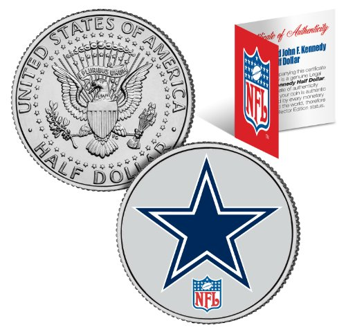 DALLAS COWBOYS NFL JFK Kennedy Half Dollar US Coin Officially Licensed with NFL Certificate