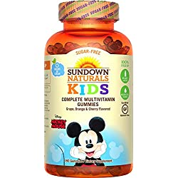 Sundown Naturals Kids Disney Mickey Mouse Sugar-Free Complete Multivitamin, 180 Count