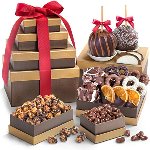 - Golden State Fruit  Chocolate Perfection Signature Gift Tower