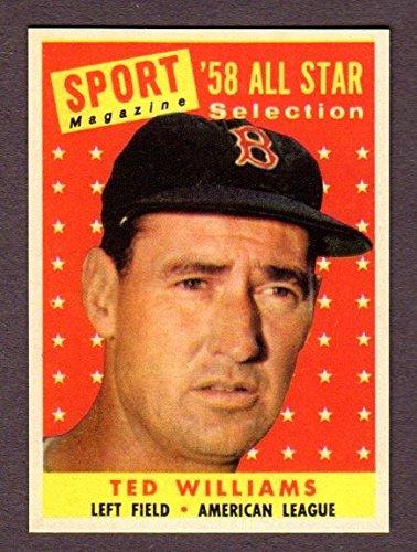 Ted Williams 1958 Topps Baseball All-Star Reprint Card (Boston)