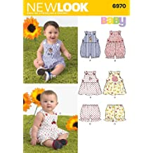 New Look Sewing Pattern 6970 Babies' Romper, Dress and Panties, Size A (NB-Small - Medium - Large)
