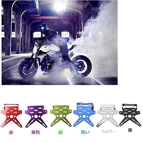 - VIGORWORK Adjustable Custom Motorcycle Motor Motorbike Fender Eliminator Sport License Plate Bracket Metal Steel Dirt Bike RED