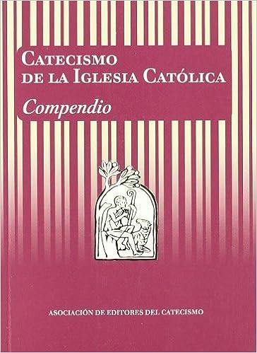 Catecismo Católico Rojo con amarillo