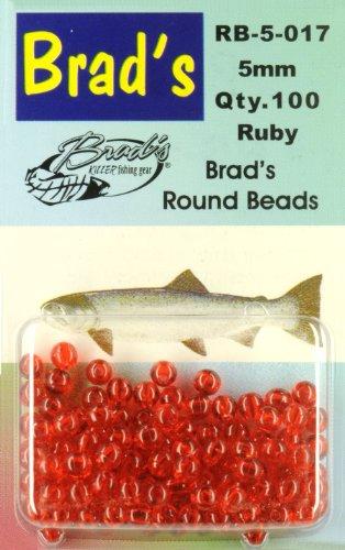 Brad 39 s round beads ruby 6mm 75 pack sporting goods for Brad s killer fish