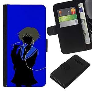 All Phone Most Case / Oferta Especial Cáscara Funda de cuero Monedero Cubierta de proteccion Caso / Wallet Case for Samsung Galaxy A3 // Ianime