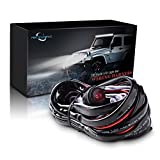 Mictuning LED Light Bar Wiring Harness 40Amp Relay ON-OFF Waterproof Switch(2 Lead 12ft)