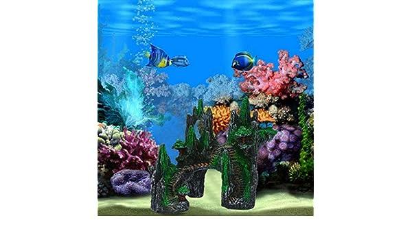 TAOtTAO 1 Pieza de Resina no tóxico Arrecife Acuario Cliff montaña Acuario Palacio decoración: Amazon.es: Deportes y aire libre