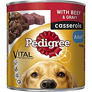 Pedigree Casserole with Beef & Gravy Wet Dog Food Can 700g Click on image for further info.